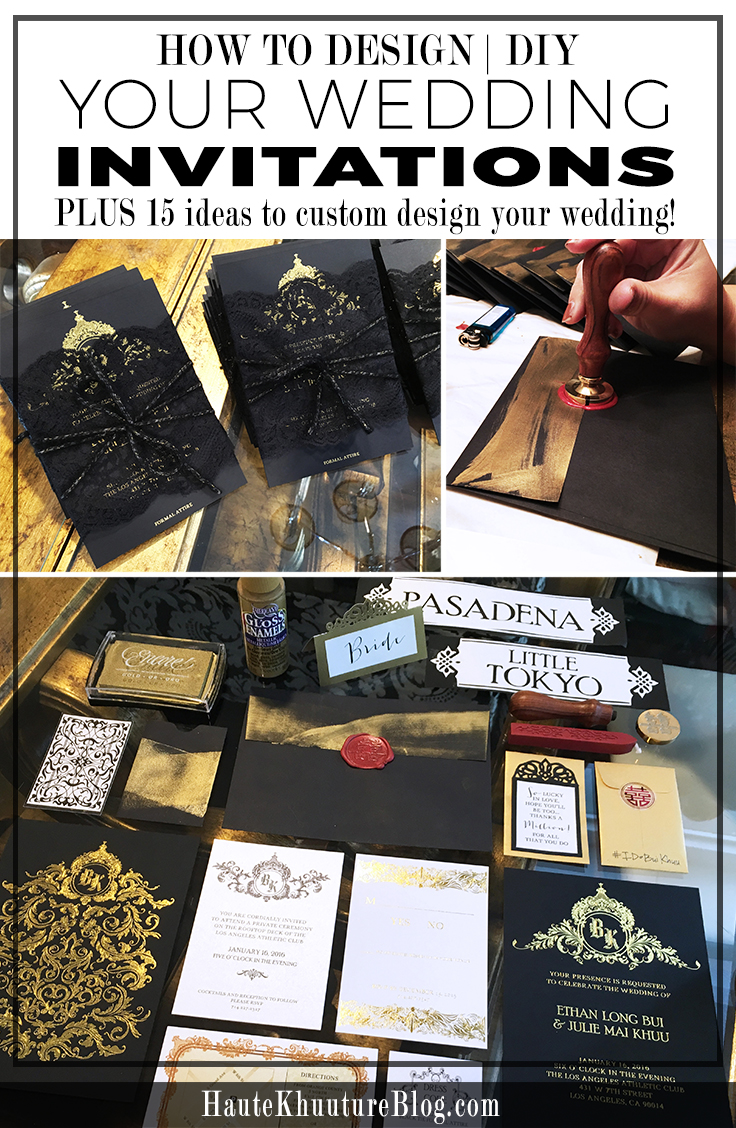 How to Custom Design Your Wedding Invitations – Haute Khuuture Blog