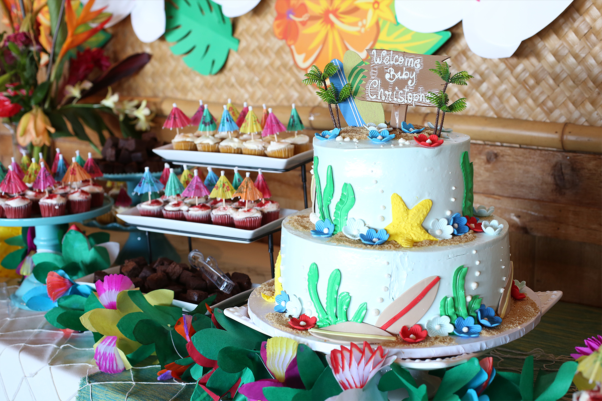 Jkid Event Tropical Luau Baby Shower Haute Khuuture Blog