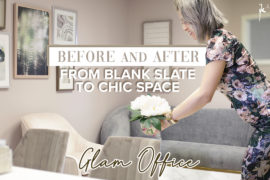 Before & After | Glam Office Design