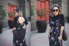 Maternity Style | Layered Slip Dress