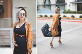 Maternity Style | Buttoned Up in Black