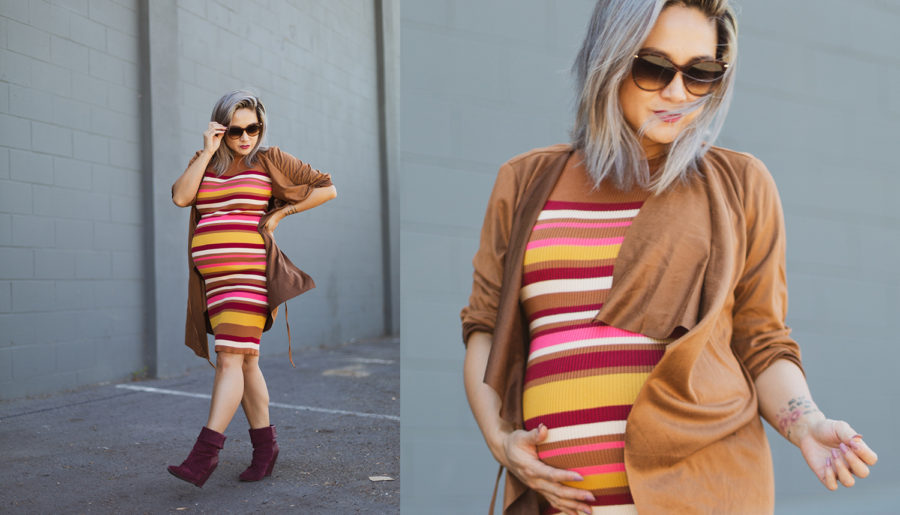Maternity Style | Suede and Stripes