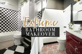 Extreme Bathroom Makeover DIY
