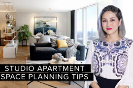 Small Space Series | 4 Studio Apartment Layouts + My TOP Space Planning Tips
